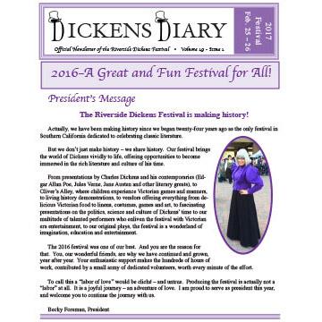 Dickens Diary – Spring 2016