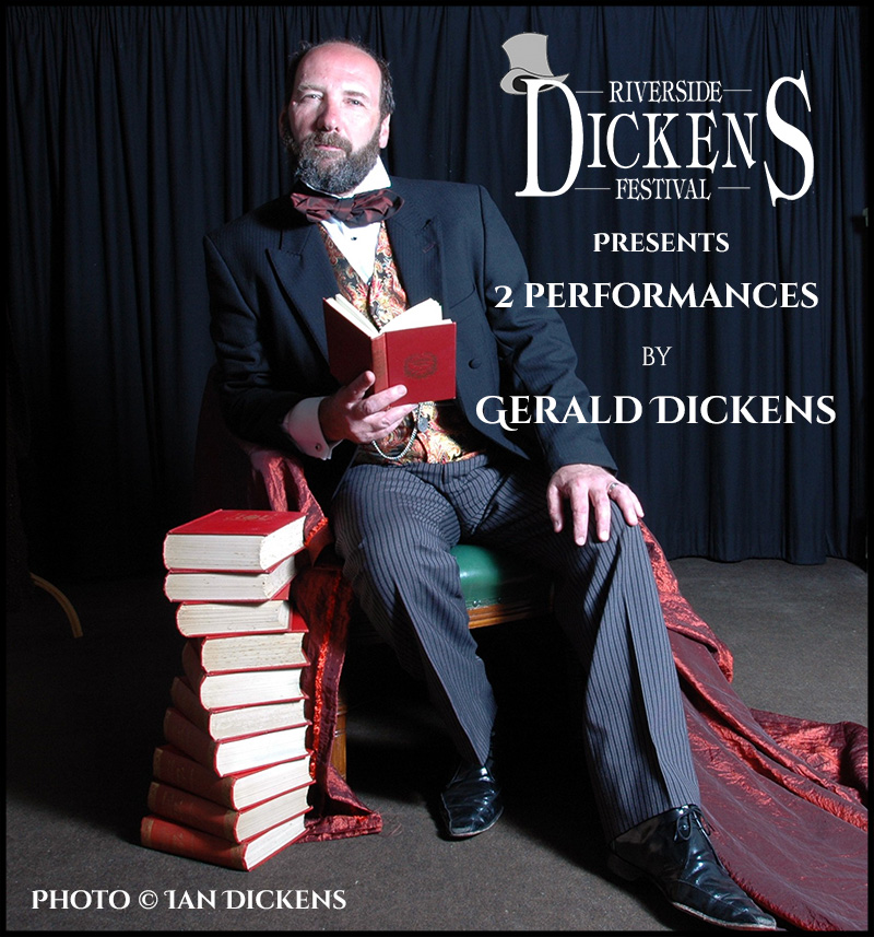 Nine Times To Riverside:  Gerald Dickens Returns To Perform His One-Man Shows