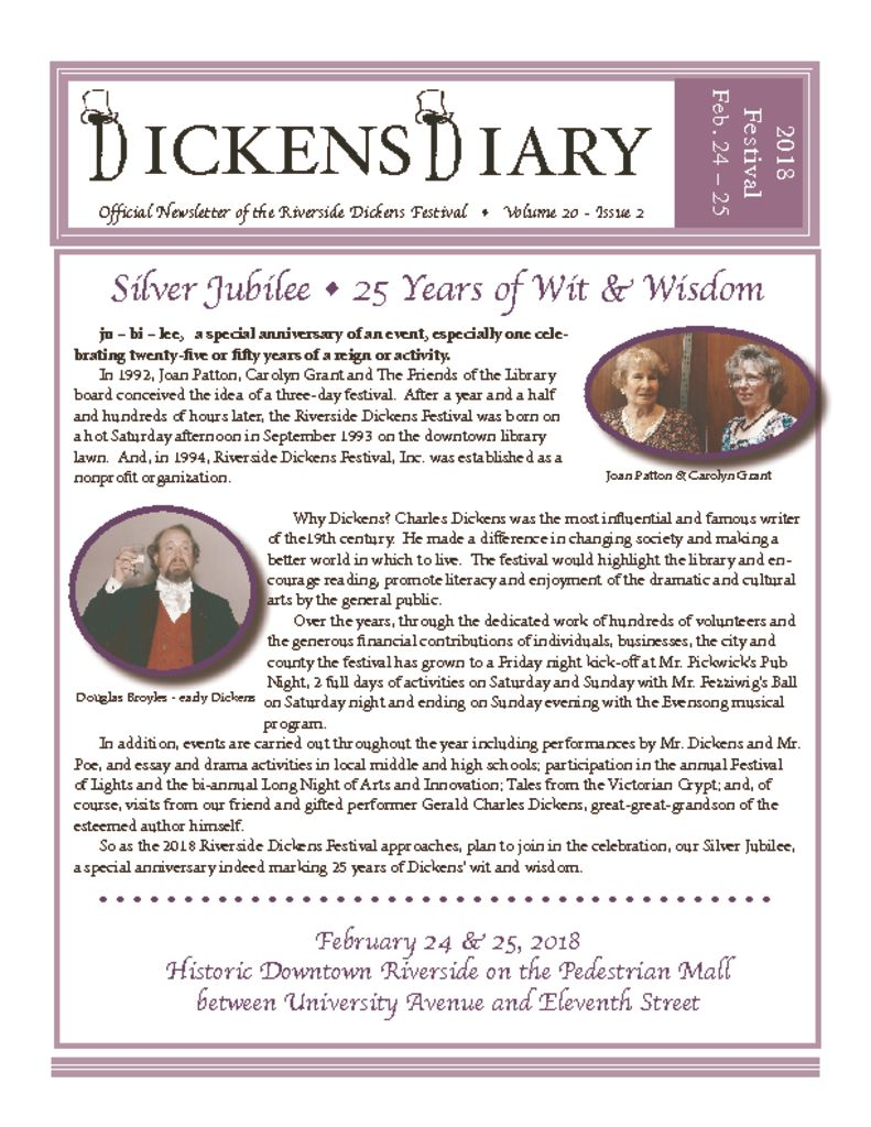 Dickens Diary – Sept 2017