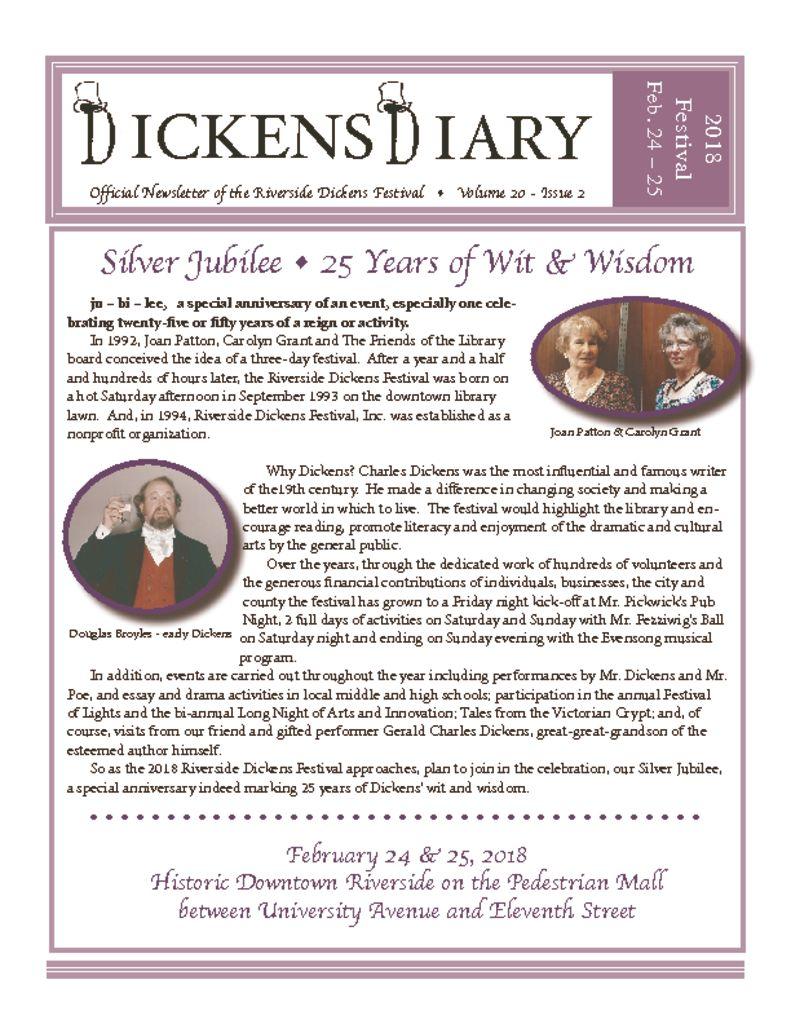 Dickens Diary – Sept 2017